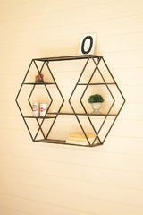 Metal Wall Shelf - Diamonds