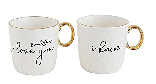 I Love You & I Know - Mug Set, Must Have Gift Mug Set For The Couple That Is Very Much Still In Love