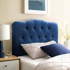 Annabel Twin Diamond Tufted Performance Velvet Headboard - Navy