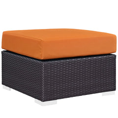 Convene 3 Piece Outdoor Patio Sofa Set - Espresso Orange