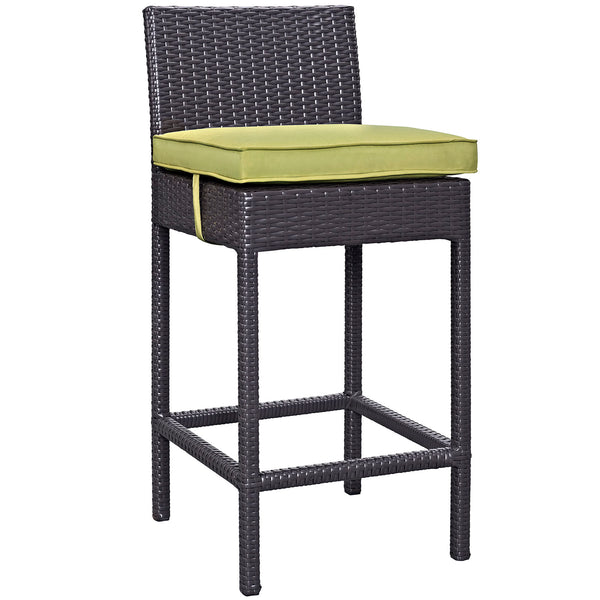 Lift Bar Stool Outdoor Patio Set of 2 - Espresso Peridot