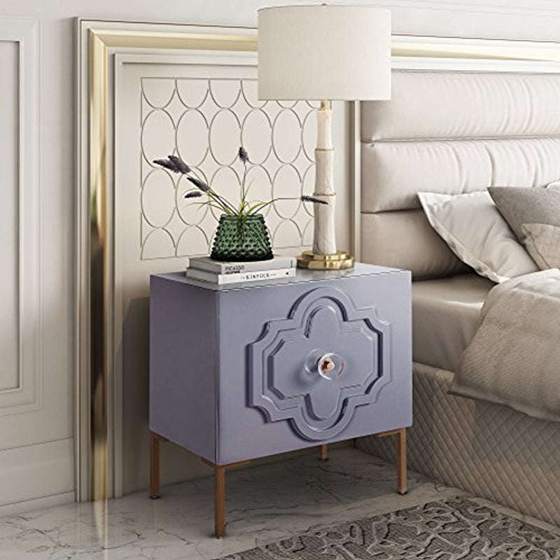 Anna Grey Lacquer Side Table