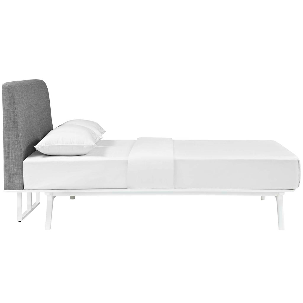 Tracy Full Bed - White Gray