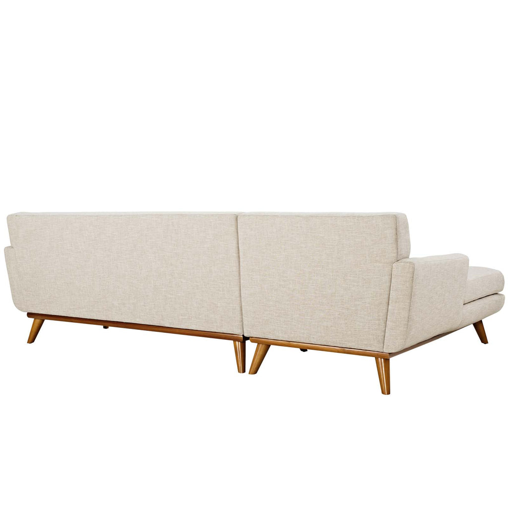 Engage Left-Facing Sectional Sofa - Beige