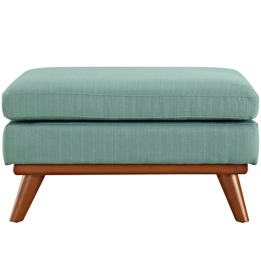 Engage Fabric Ottoman in Laguna