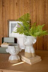 Set of Two Ceramic Smooching Planters