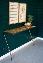 Recycled Wood and Metal Wall Console