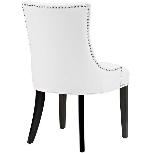 Marquis Faux Leather Dining Chair in White