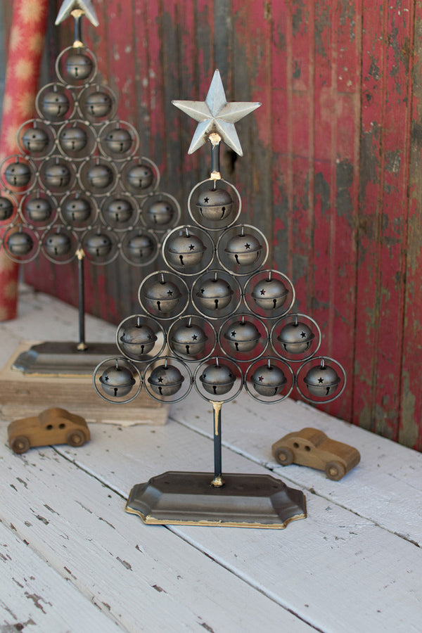 Set of Two Christmas Bell Trees