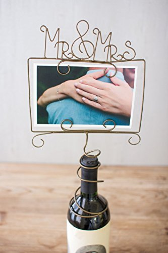 Wire Photo Holder - Mr & Mrs