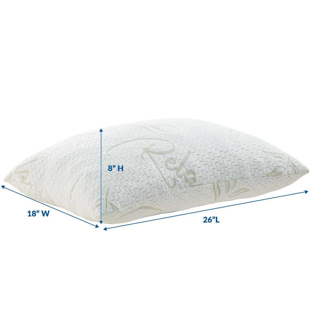 Relax Standard/Queen Size Pillow - White