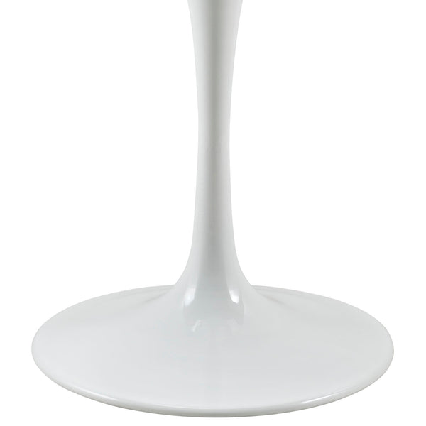 "Lippa 36"""" Wood Top Dining Table in White"