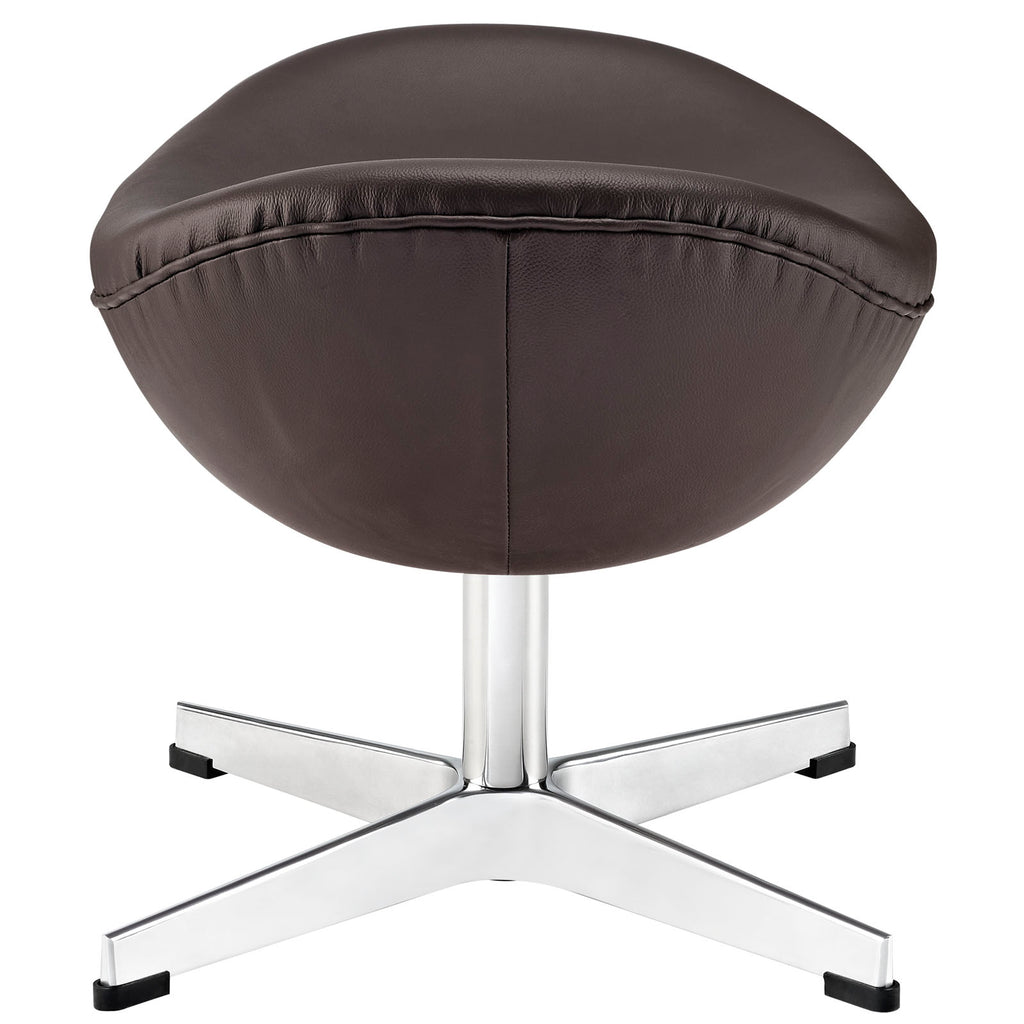 Glove Leather Ottoman - Brown