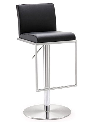 Amalfi Black Stainless Steel Adjustable Barstool