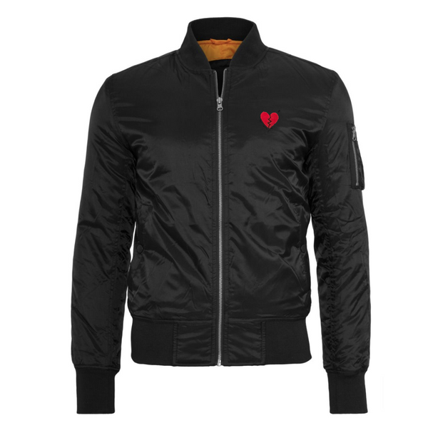 Heartbreaker Bomber Jacket - Black