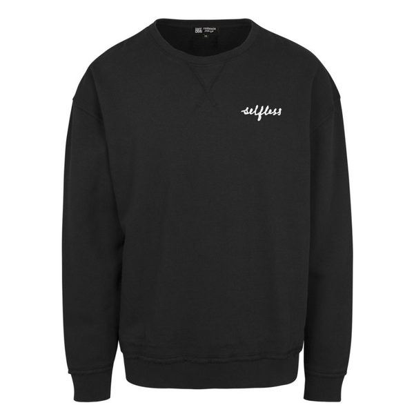 Selfless Oversized Crewneck - Black