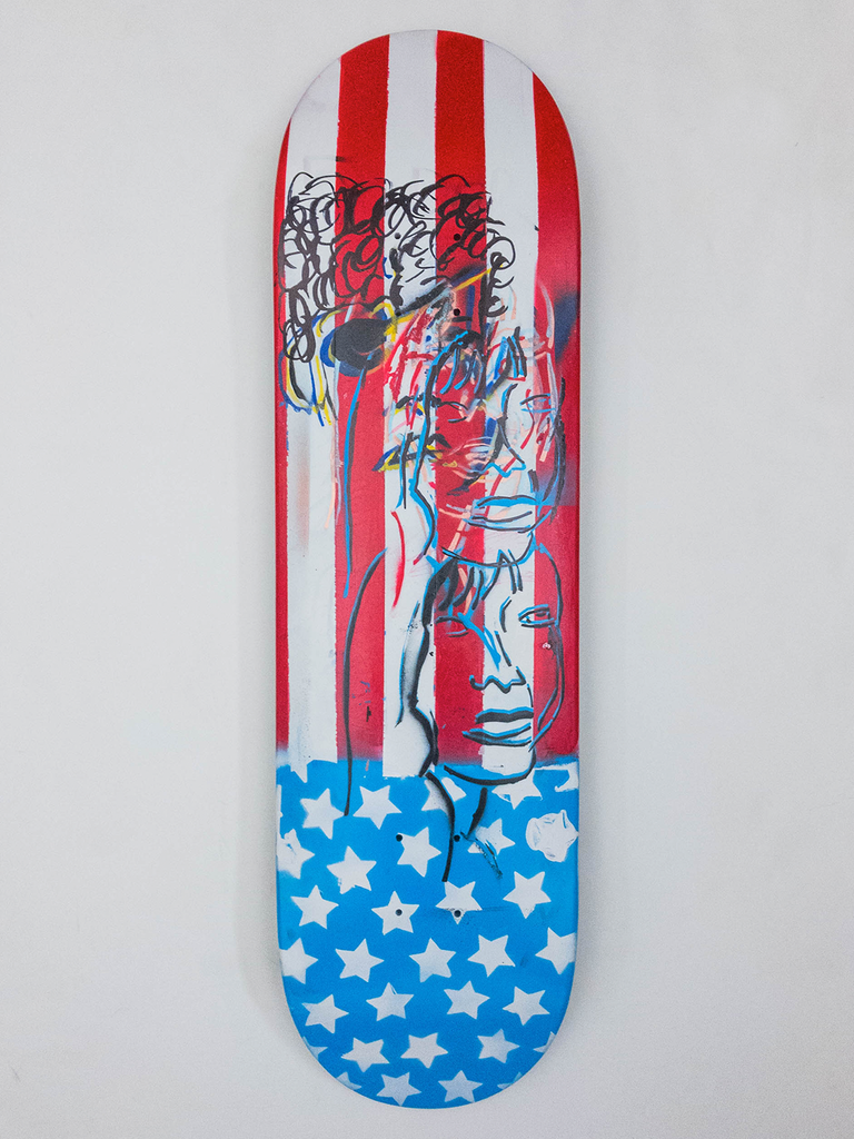 "8.675"" Hand Painted Deck #3"