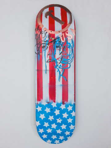 "8.675"" Hand Painted Deck #4"