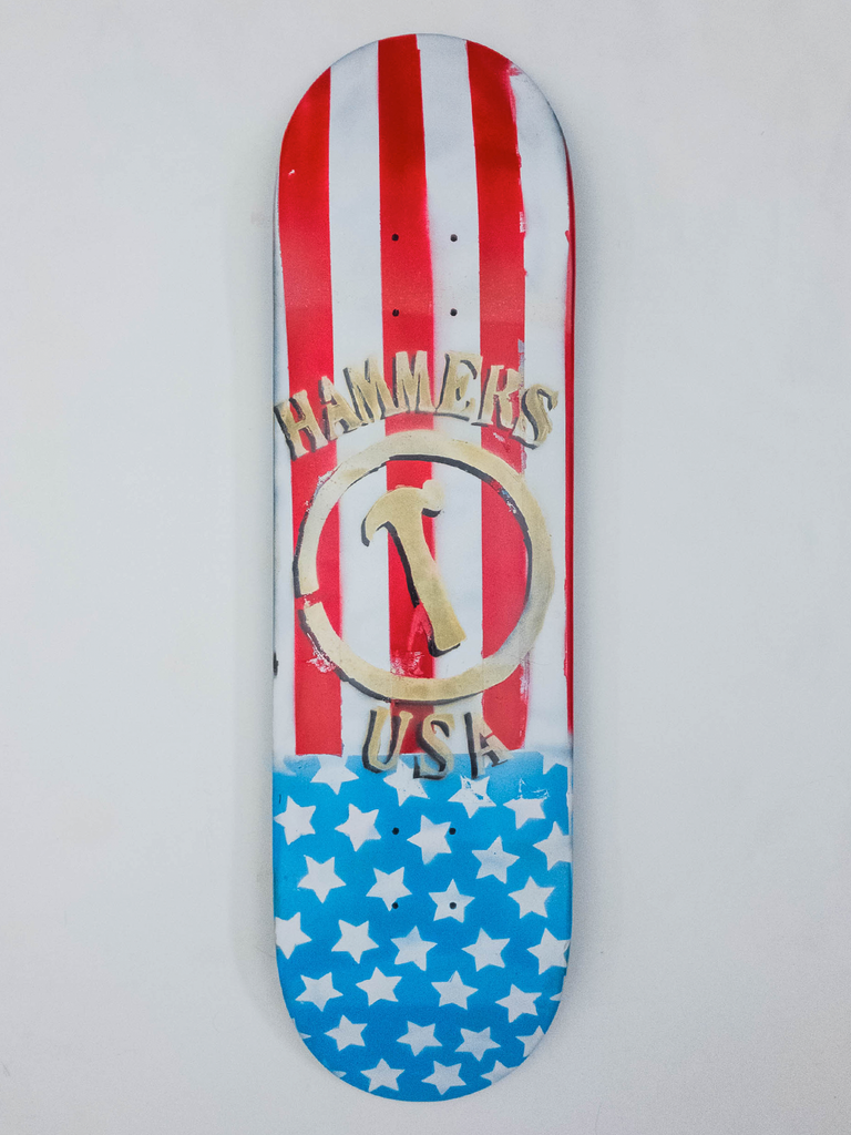 "8.675"" Hand Painted Deck #6"