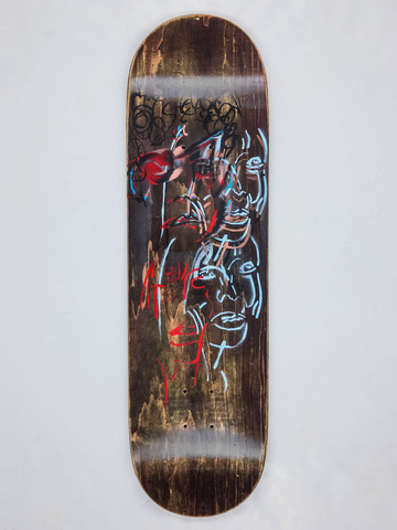 "8.675"" Hand Painted Deck #7"