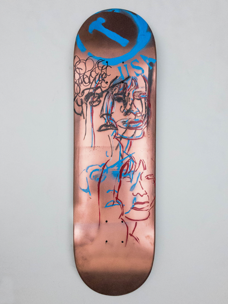 "8.675"" Hand Painted Deck #9"