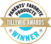 "Winner of ""Parents' Favorite Product"" by the Tillywig Awards"