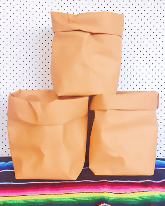MADE BY FRANK | WASHABLE PAPER BAG NATURAL LARGE - Daisy Chain Store
