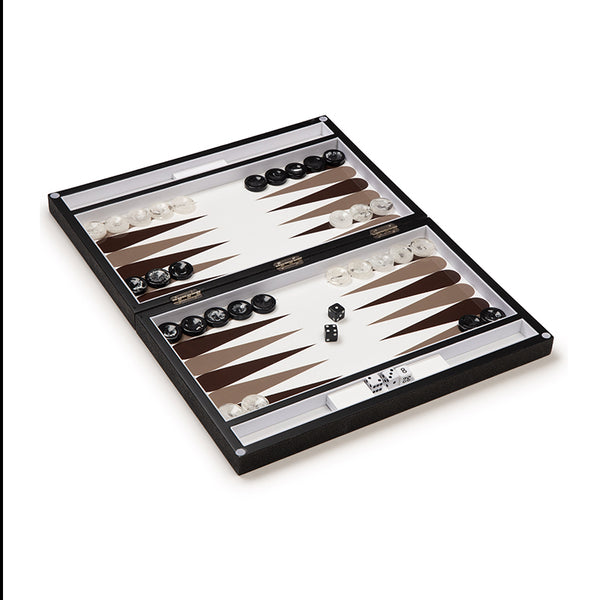 Leather and Marble Backgammon Set