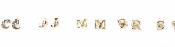 14Kt  Initial Earrings