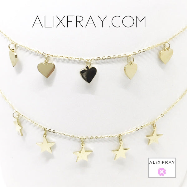 Hearts & Stars Dangling Chokers