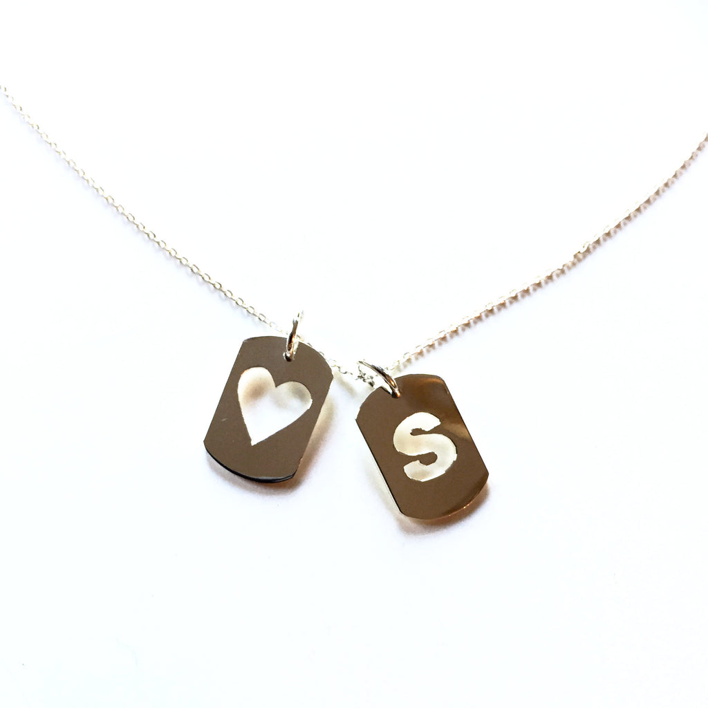 Heart Mini Dog Tag