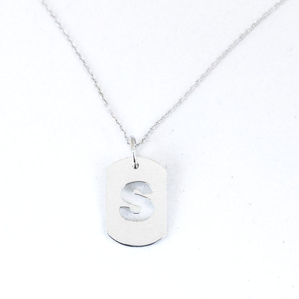Inital Mini Dog Tag