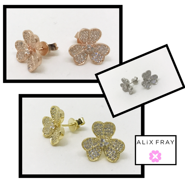 """Paris"" Flower Earrings"
