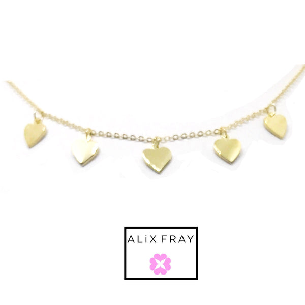 Heart Dangling Choker