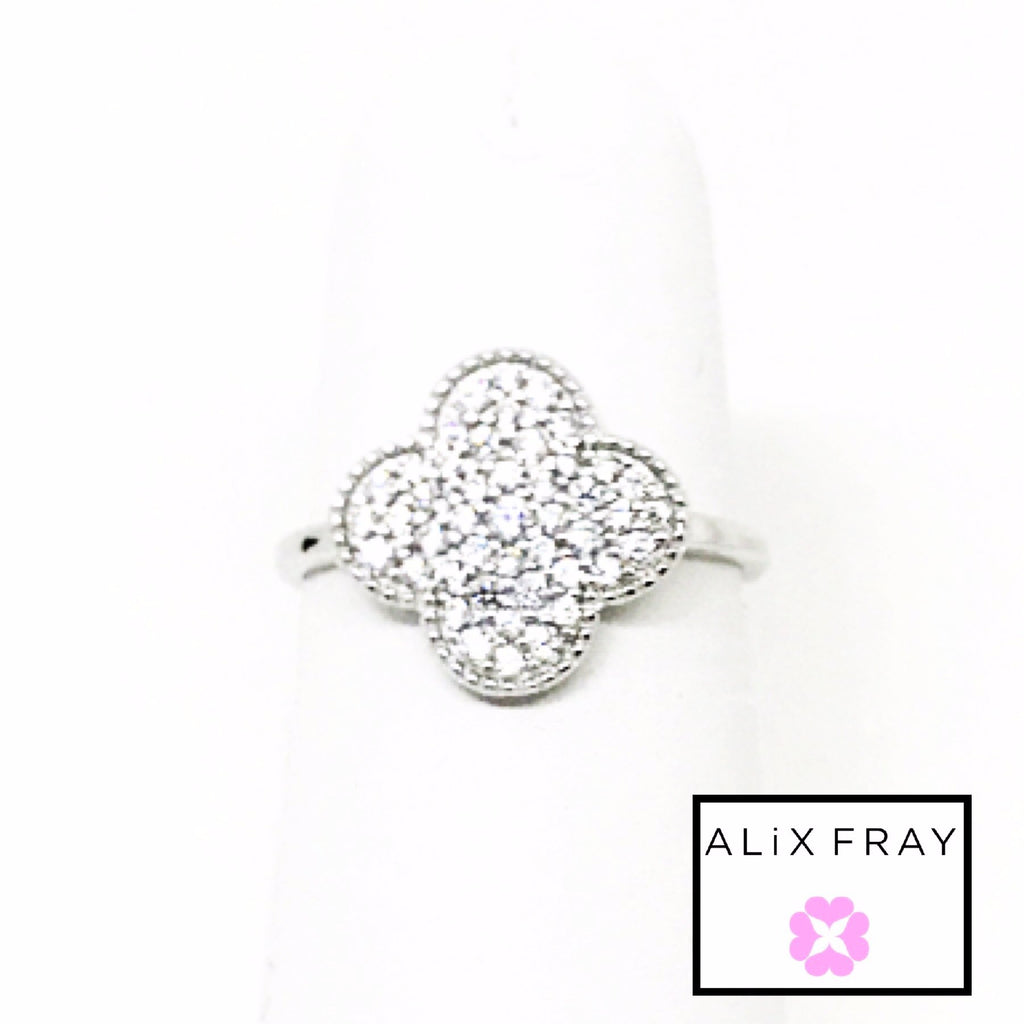 Clover Pave Ring