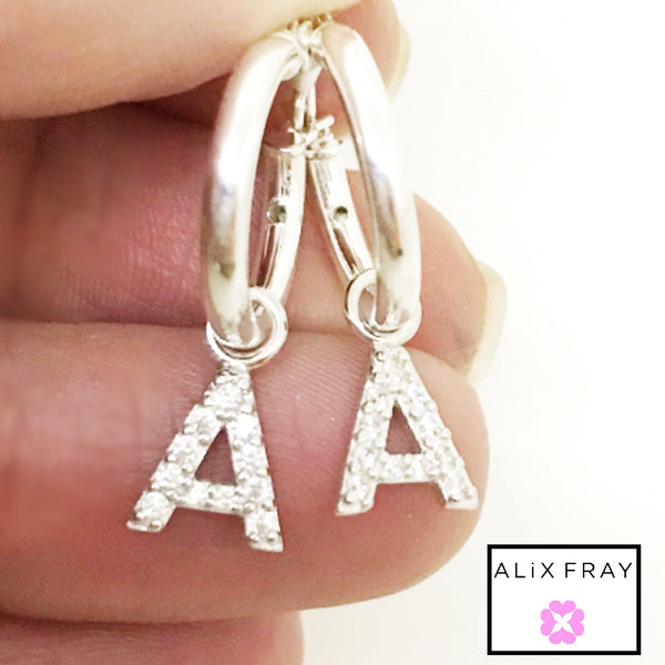 """Mini"" Initial Hoop Earrings"