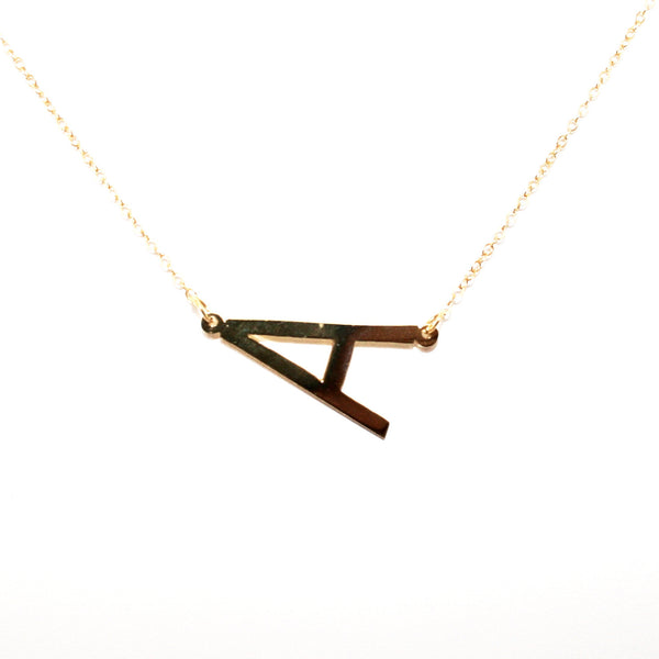 """Medium"" Initial Necklace"