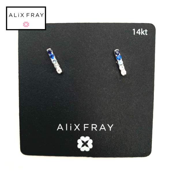 14kt Sapphire Bar Earrings