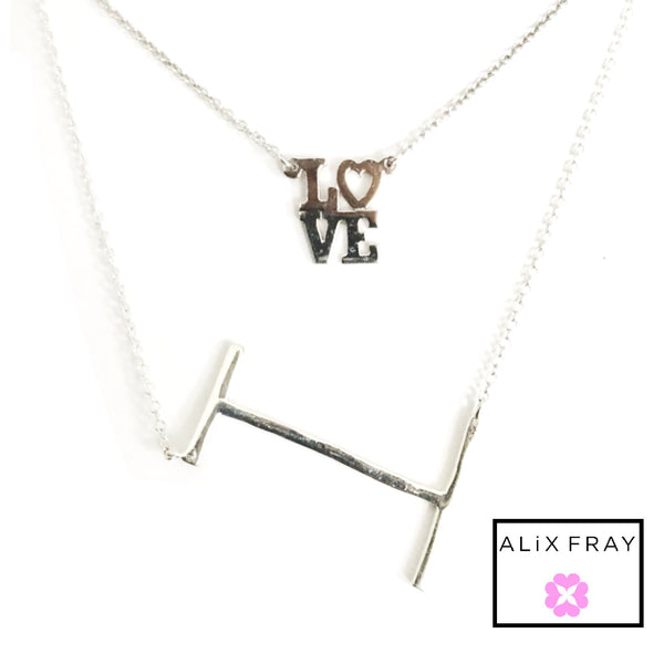 """LOVE""  Mini Square Necklace"