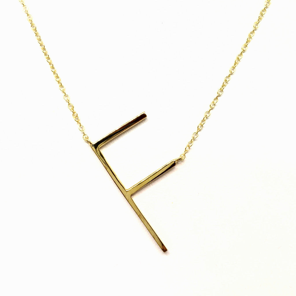 """F"" Initial Necklace"