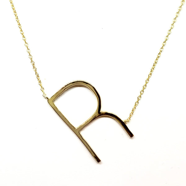 """R"" Initial Necklace"