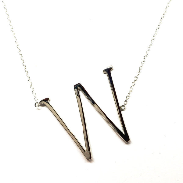 """W"" Initial Necklace"
