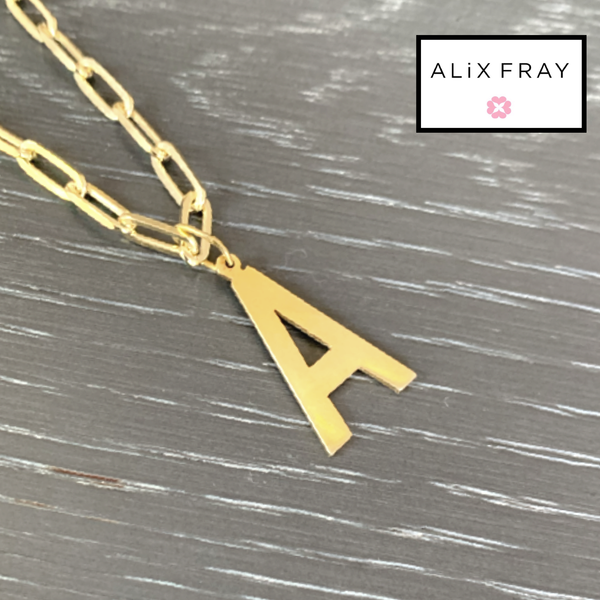 Paperclip Initial Necklace