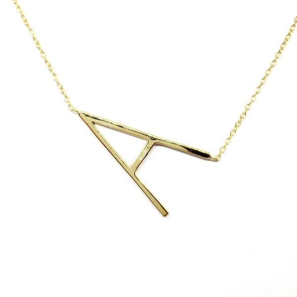 """A"" Initial Necklace"