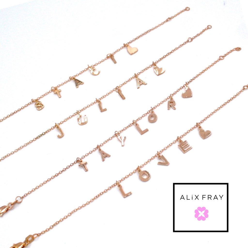 Hanging Mini Name Bracelet