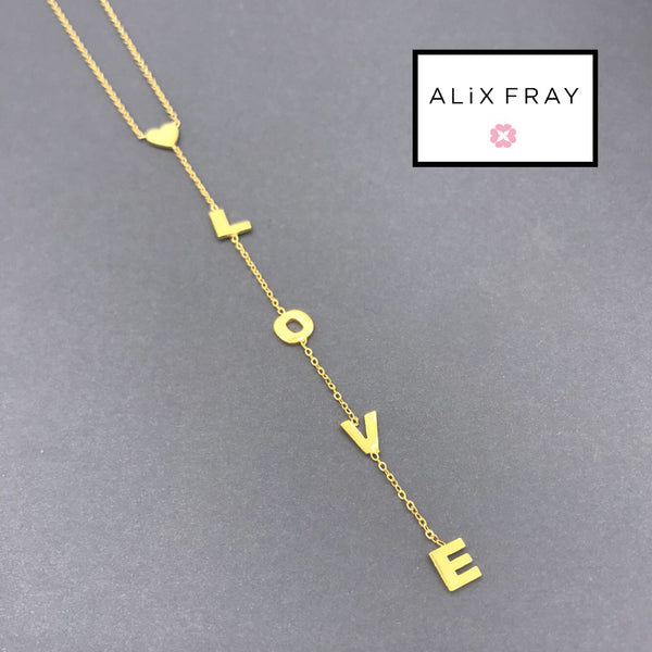 """Initial Love"" Drop Necklace"
