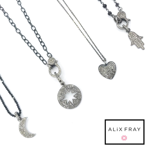 Diamond Charm Necklaces