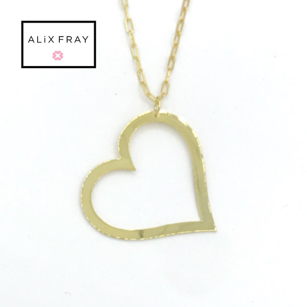 Long Angled Heart Necklace