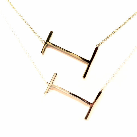 """I"" Initial Necklace"