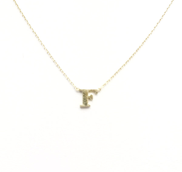 "14kt ""Mini"" Initial Necklace"